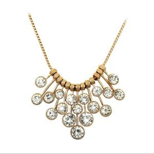 Fashion pendant gold circle crystal necklace